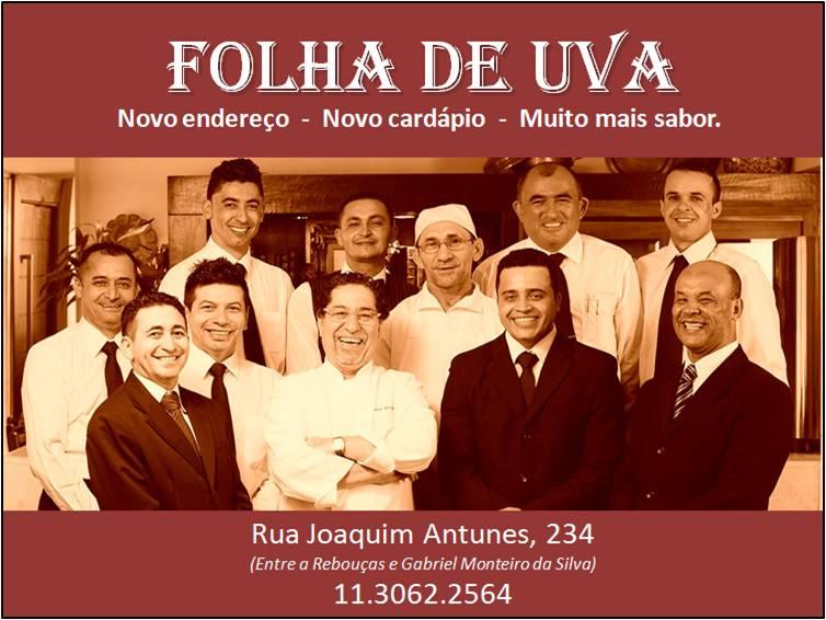 Publicidade - Restaurante Folha de Uva