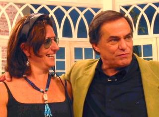 """Ronnie e a diretora do programa """"Todo Seu"""" Ellen Dastry"""